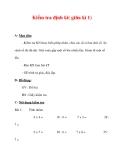 Giáo án môn Toán lớp 3 :Tên bài dạy : Kiểm tra định kì( giữa kì 1)
