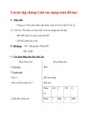 Giáo án môn Toán lớp 3 :Tên bài dạy : Luyện tập chung Giải các dạng toán đã học