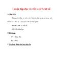 Giáo án môn Toán lớp 3 :Tên bài dạy : Luyện tập đọc và viết s có 5 chữ số
