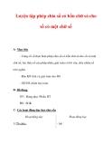Giáo án môn Toán lớp 3 :Tên bài dạy : Luyện tập phép chia số có bốn chữ só cho số có một chữ số