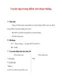 Giáo án môn Toán lớp 3 :Tên bài dạy : Luyện tập trung điểm của đoạn thẳng