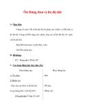 Giáo án môn Toán lớp 3 :Tên bài dạy : Ôn Bảng đơn vị đo độ dài