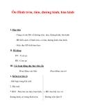 Giáo án môn Toán lớp 3 :Tên bài dạy : Ôn Hình tròn, tâm, đường kính, bán kính