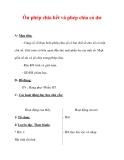 Giáo án môn Toán lớp 3 :Tên bài dạy : Ôn phép chia hết và phép chia có dư