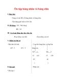 Giáo án môn Toán lớp 3 :Tên bài dạy : Ôn tập bảng nhân và bảng chia