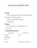 Giáo án môn Toán lớp 3 :Tên bài dạy : Thực hành xem đồng hồ ( Tiếp )