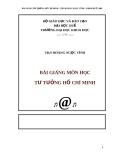 Bài giảng môn học Tư tưởng Hồ Chí Minh - ThS. Hoàng Ngọc Vĩnh