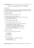 Bài giảng Visual FoxPro - Chương 5