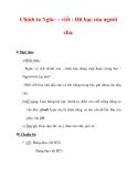 Giáo án Tiếng Việt lớp 3 : Tên bài dạy : Chính tả Nghe – viết : Hũ bạc của người cha.