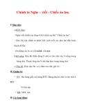 Giáo án Tiếng Việt lớp 3 : Tên bài dạy : Chính tả Nghe – viết : Chiếc áo len.