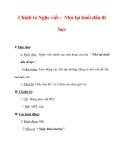 Giáo án Tiếng Việt lớp 3 : Tên bài dạy : Chính tả Nghe viết : Nhớ lại buổi đầu đi học