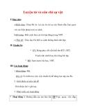 Giáo án Tiếng Việt lớp 3 : Tên bài dạy : Luyện từ và câu chỉ sự vật