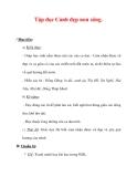 Giáo án Tiếng Việt lớp 3 : Tên bài dạy : Tập đọc Cảnh đẹp non sông.