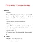 Giáo án Tiếng Việt lớp 3 : Tên bài dạy : Tập đọc Chú sẻ và bông hoa bằng lăng.