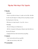 Giáo án Tiếng Việt lớp 3 : Tên bài dạy : Tập đọc Nhà rông ở Tây Nguyên.