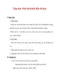 Giáo án Tiếng Việt lớp 3 : Tên bài dạy : Tập đọc Nhớ lại buổi đầu đi học.