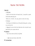 Giáo án Tiếng Việt lớp 3 : Tên bài dạy : Tập đọc Nhớ Việt Bắc.
