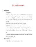 Giáo án Tiếng Việt lớp 3 : Tên bài dạy : Tập đọc Ông ngoại.