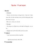 Giáo án Tiếng Việt lớp 3 : Tên bài dạy : Tập đọc Về quê ngoại.