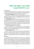 MỘT SỐ CHỨC NĂNG MỚI TRONG WINDOWS SEVEN