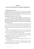 Độc học môi trường - Chương 1