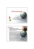 Kinh tế môi trường - Lecture 1