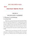 ĐỒ ÁN HỆ THỐNG MẠNG  BẢO MẬT TRONG WLAN chương 2_1