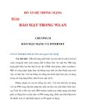 ĐỒ ÁN HỆ THỐNG MẠNG  BẢO MẬT TRONG WLAN chương 2_2