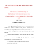 LUẬN VĂN: CÁC PHƯƠNG THỨC TÍCH HỢP IP TRÊN QUANG VÀ ỨNG DỤNG TRONG NGN CỦA TỔNG CÔNG TY BƯU CHÍNH VIỄN THÔNG VIỆT NAM (Chương 3_2)