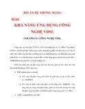KHẢ NĂNG ỨNG DỤNG CÔNG NGHỆ VDSL CHƯƠNG 2_2