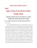 KHẢ NĂNG ỨNG DỤNG CÔNG NGHỆ VDSL CHƯƠNG 3