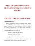 """ĐỒ ÁN TỐT NGHIỆP CÔNG NGHỆ PHẦN MỀM """"KĨ THUẬT LƯU LƯỢNG IP/WDM"""" CHƯƠNG 1"""