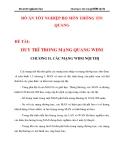 DUY TRÌ TRONG MẠNG QUANG WDM CHƯƠNG 2