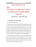 ỨNG DỤNG CỦA KIẾN TRÚC CQS VÀ VẤN ĐỀ QUẢN LÍ NGHẼN TRONG MẠNG IP CHƯƠNG 3