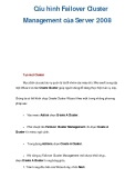 Cấu hình Failover Cluster Management của Server 2008