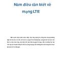 Năm điều cần biết về mạng LTE