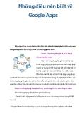 Những điều nên biết về Google Apps