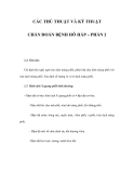 CÁC THỦ THUẬT VÀ KỸ THUẬT CHẨN ĐOÁN BỆNH HÔ HẤP – PHẦN 2