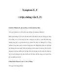 Symptom E, F ( triệu chứng vần E, F)