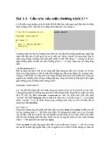 Bài 1.1: Cấu trúc của một chương trình C++