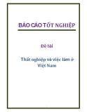Đề tài: Thất nghiệp và việc làm ở Việt Nam