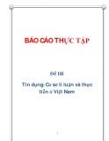 Đề tài: Tín dụng: Cơ sở lí luận và thực tiễn ở Việt Nam