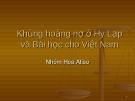 Khủng hoảng nợ công Hy Lạp và bài học cho Việt Nam
