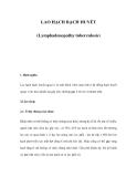 LAO HẠCH BẠCH HUYẾT (Lymphadenopathy tuberculosis)