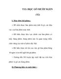 Giáo án tin học 6_ tiết 12