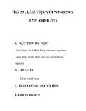 Giáo án tin học 9_ tiết 39