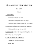 Giáo án tin học 9_ tiết 49