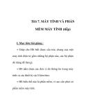 Giáo án tin học 6_ tiết 7