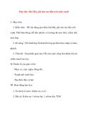 Giáo án lớp 5 môn Âm Nhạc: Học hát: Bài Hãy giữ cho em bầu trời mầu xanh