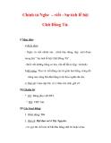 Giáo án Tiếng Việt lớp 3 : Tên bài dạy : Chính tả Nghe – viết : Sự tích lễ hội Chữ Đồng Tử.